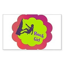 Rock Girl rock climber design Decal
