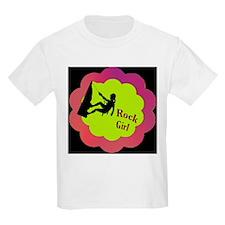 Rock Girl Rock climber design T-Shirt