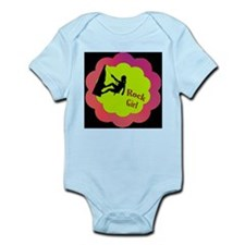 Rock Girl Rock climber design Infant Bodysuit