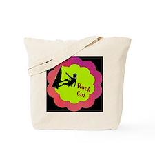 Rock Girl Rock climber design Tote Bag