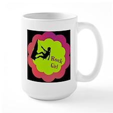 Rock Girl Rock climber design Mug