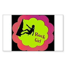 Rock Girl Rock climber design Decal