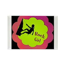 Rock Girl Rock climber design Rectangle Magnet