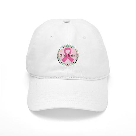 25 Year Breast Cancer Survivor Cap