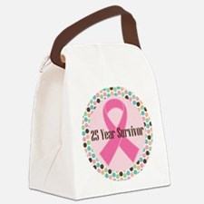 25 Year Breast Cancer Survivor Canvas Lunch Bag