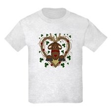 Christmas Reindeer Wreath Kids T-Shirt