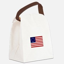 13 Star United States Flag Canvas Lunch Bag