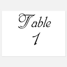 Table Number 1 5x7 Flat Cards