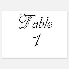 Table Number 1 Invitations