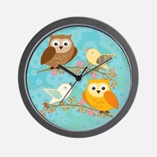 Birds and owls Wall Clock