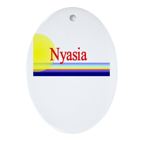Nyasia Oval Ornament