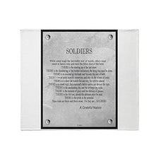 Soldiers Throw Blanket