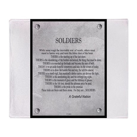 Soldiers Throw Blanket