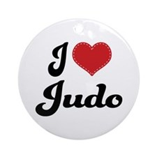 I Love Judo Ornament (Round)