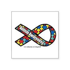 """Autism Ribbon"" Rectangle Sticker"