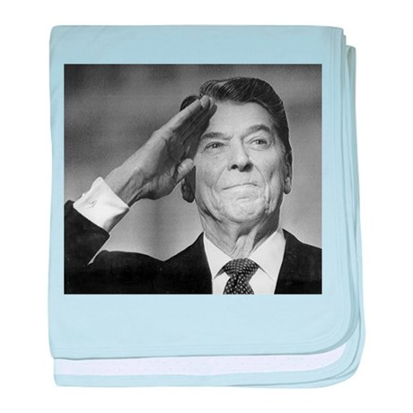 Ronald Reagan baby blanket