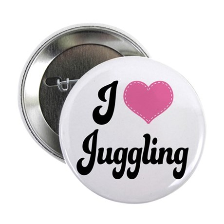 """I Love Juggling 2.25"""" Button"""