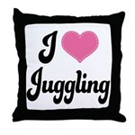 I Love Juggling Throw Pillow