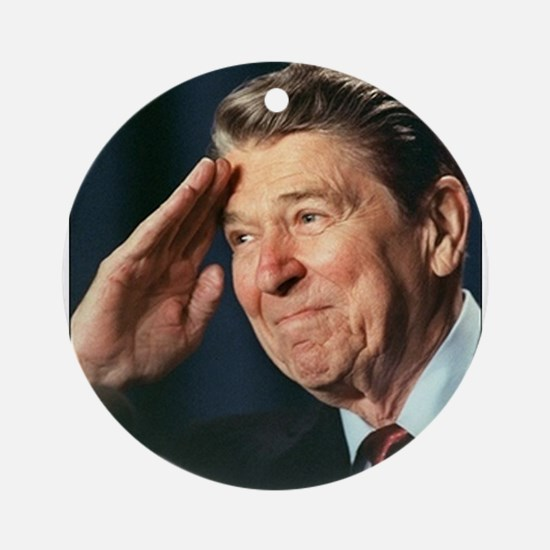 Ronald Reagan Ornament (Round)