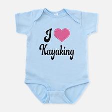 I Love Kayaking Infant Bodysuit