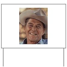 Ronald Reagan Yard Sign