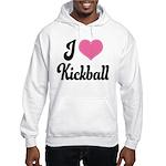 I Love Kickball Hooded Sweatshirt