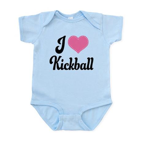 I Love Kickball Infant Bodysuit