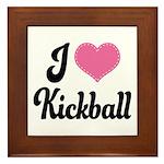 I Love Kickball Framed Tile