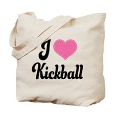 I Love Kickball Tote Bag