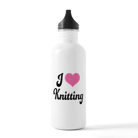 I Love Knitting Stainless Water Bottle 1.0L