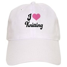 I Love Knitting Baseball Cap