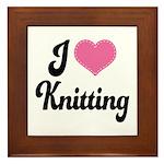 I Love Knitting Framed Tile