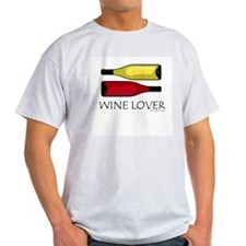 Wine Lover's Ash Grey T-Shirt