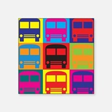 Driving a Bus Pop Art Sticker