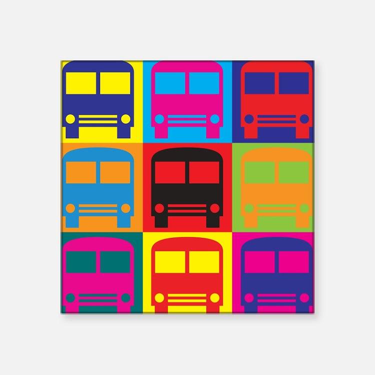 Driving a Bus Pop Art Sticker
