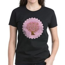 Pink Ribbon Breast Cancer Tree Tee