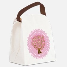 Pink Ribbon Breast Cancer Tree Canvas Lunch Bag