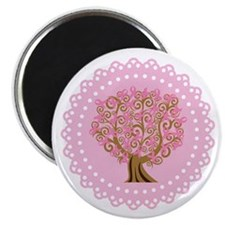 Pink Ribbon Breast Cancer Tree Magnet