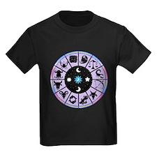Zodiac Wheel in Purple Stars and Moons T