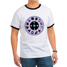 Zodiac Wheel in Purple Stars and Moons T
