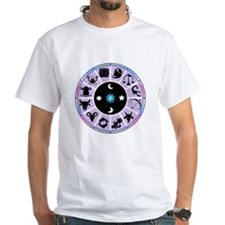 Zodiac Wheel in Purple Stars and Moons Shirt