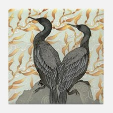 Cormorants w/ Kelp Tile Coaster