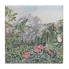 Hummingbirds & Mt Calder Tile Coaster