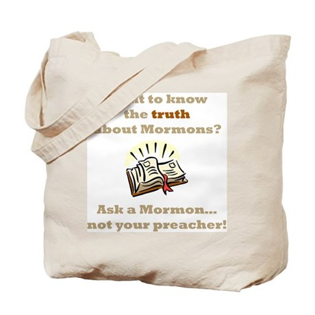 Truth About Mormons Tote Bag