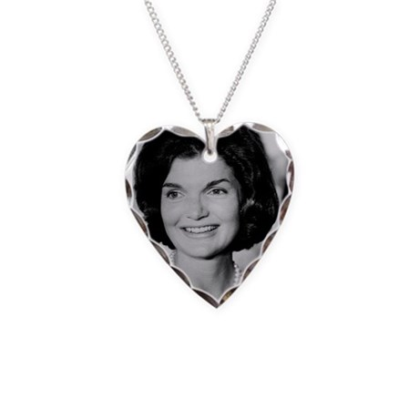 Jackie Kennedy Necklace Heart Charm