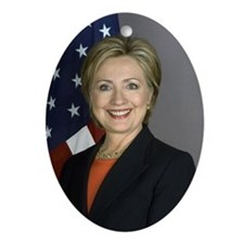 Hillary Clinton Ornament (Oval)