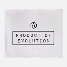 Product of Evolution Throw Blanket