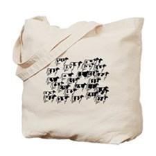 Holstein Herd Tote Bag