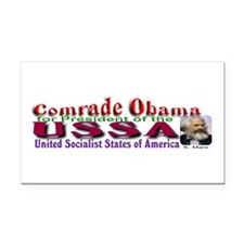 Comrade Obama Rectangle Car Magnet