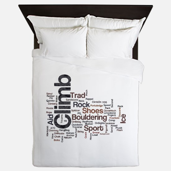 Climbing Words Queen Duvet